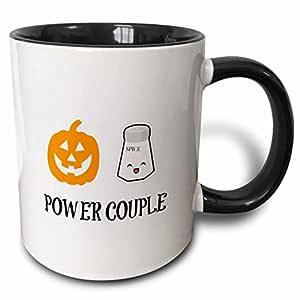 3drose brooklynmeme 趣味语录–pumpkin SPICE POWER 情侣–马克杯 黑色 11-oz Two-Tone Black Mug