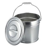 不锈钢 带盖水桶8L 20442