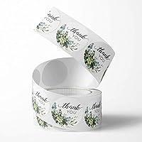 Unihom - 感谢贴纸卷(2 件套,1000 件)2.5 厘米/1 英寸小号自粘标签卷精品用品用于商业信件、礼品包装、客户信封和零售袋(花朵)