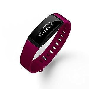驰力源 手环 智能手环 来电提醒 卡里路 计步器 睡眠监测 时尚手环 运动手环 跑步手环 闹钟 V7 (红色)