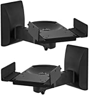 Mount-It! Speaker Wall Mounts, Pair of Universal Side Clamping Bookshelf Speaker Mounting Brackets, Large or S