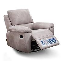 芝华仕 头等舱功能沙发 单人沙发 欧美式布艺客厅沙发8908手动可躺可摇可转 浅色(标价仅为商品价格,如需运送/安装,请咨询客服具体费用。咨询电话:400-688-9099 QQ:648538692/3478725759)(亚马逊自营商品, 由供应商配送)