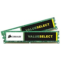 Corsair CMV16GX3M2A1333C9 Value Select 16GB (2x8GB) DDR3 1333 Mhz CL9 主流台式机内存套件CMV8GX3M2A1333C9 8GB (2x4GB)
