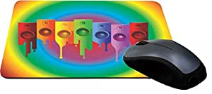 Rikki Knight Colored Speakers on Radial Rainbow Lightning Series Gaming Mouse Pad