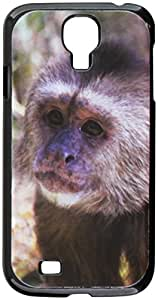 Graphics and More Monkey Face Snap-On Hard Protective Case for Samsung Galaxy S4 - Non-Retail Packaging - Black
