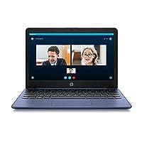 HP 惠普 Stream 11 英寸高清笔记本电脑,Intel Celeron 英特尔赛扬 N4000,4 GB 内存,32 GB eMMC,Windows 10 家庭 S 模式,带 Office 365 个人电脑,1 年(11-ak0010nr,宝蓝色)