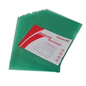 Esselte 易达 透明文件套 #700246 A4,310*230毫米 绿色 12个