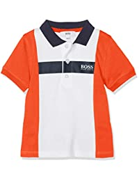 BOSS 男婴 Polo Manches Courtes 衬衫 White (Blanc Rouge N) 6-9 Months (Manufacturer size: 06M)
