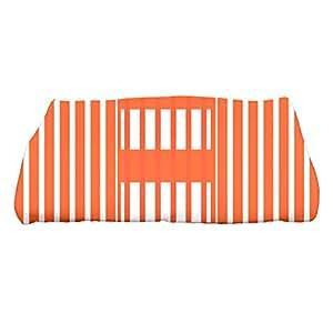 """E by design 28 x 58 英寸,沙滩毛毯,条纹印花浴巾 橙色 28 x 58"""" TS784O1"""