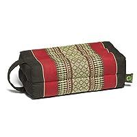 Kapok Dreams Block 垫子带手柄/绑带,瑜伽和冥想道具,* 天然 Kapok 填充物(天然植物纤维),酒红色和黑色。
