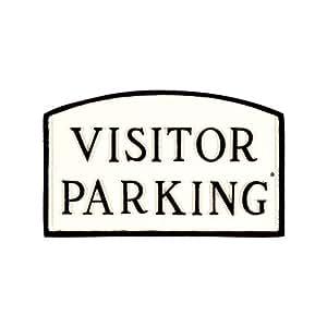 Montague 金属产品 SP-19sm-WB 游客停车拱形装饰贴,小号,白色和黑色