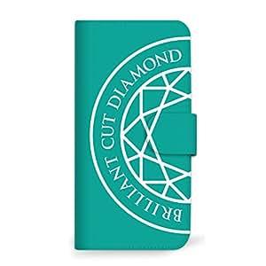 MITAS 智能手机保护壳翻盖型钻石简约  绿色 14_DIGNO F (504KC)