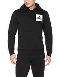 adidas 阿迪达斯 男式 运动型格 套头衫 S98769 黑 ESS LOGO P/O B