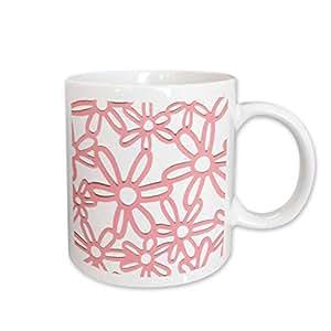 mug_35366_1 Florene Decorative - Pink Flowers On White - Mugs - 11oz Mug