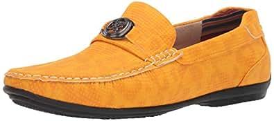 STACY ADAMS 男士 CYD 一脚蹬乐福鞋驾驶风格 橘色(Saffron) 11.5 M US