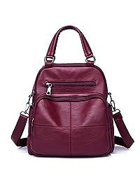 女式皮革背包 – 時尚可轉換雙肩背包 女式單肩旅行包