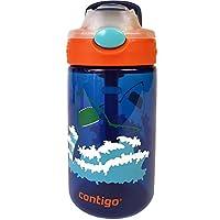 Contigo 康迪克 AUTOSPOUT Straw Gizmo Flip 兒童水壺 14盎司(約414毫升,Blue藍色
