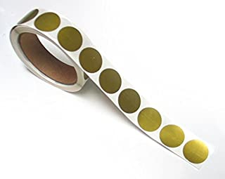 2.54 cm 圆形金色刮痕标签贴纸,每卷 1000 张