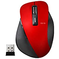 エレコム ワイヤレスマウス 無線 2.4GHz 5ボタン BlueLED Sサイズ 握りの極み レッド M-XGS10DBRD