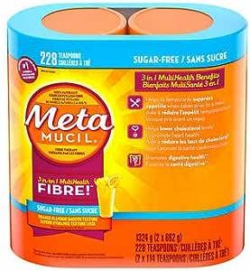 加拿大直邮 Metamucil Smooth Texture Sugar-Free Orange Psyllium Fibre 美达施橙子味膳食纤维素粉2x662g 2瓶
