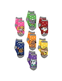 Paw Patrol 狗狗巡逻队男童女童 7 双装袜带抓手鞋(幼儿/小童)