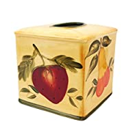 Tuscany 混合水果 Delux 陶瓷纸巾盒盖,88487 by ACK