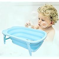 DH乐易行 婴儿可折叠浴盆宝宝洗澡盆 儿童大号澡盆 新生儿浴盆浴桶可坐躺加厚材质