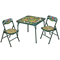 Nickelodeon 忍者神龟 3 件套桌子和椅子套装