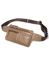 BISON DENIM 皮革腰包 男式臀部 钱包 旅行远足包 皮带包