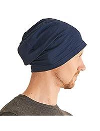 男式轻质夏季无檐小便帽 - 女式休闲无檐小便帽弹性宽松针织帽 * 棉化学帽