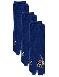 Fuku 日式花纹 足袋型 袜子 松竹梅 3双装