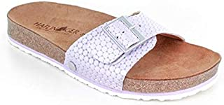 Haflinger 皮革拖鞋 | Bio Gina,淡紫色