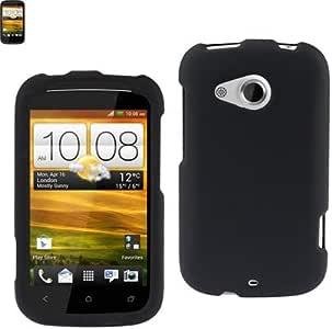 Reiko RPC10-HTCH1000CBK Premium Rubberized Sleek Protective Case for HTC Desire C - 1 Pack - Retail Packaging - Black