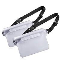 Venterior 防水袋 2 个装带腰带- 保持手机钱包*干爽 - 划船游泳浮潜钓鱼帆船海滩水上公园的完美干燥袋