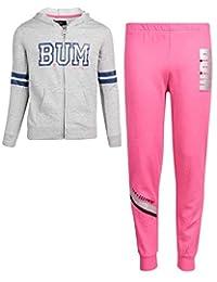 B.U.M. Equipment Girls 2 件套慢跑运动裤和拉链连帽运动衫