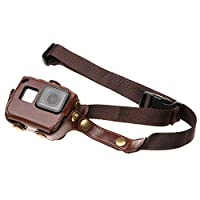 Yeetech 易科达 GoPro Hero7/6/5 Black 配件 皮套 GoPro保护套 防摔套 PU防护壳 运动相机保护套 (咖啡色)