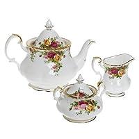 Royal Doulton 652383203570 怀旧乡村玫瑰图案茶具3件套
