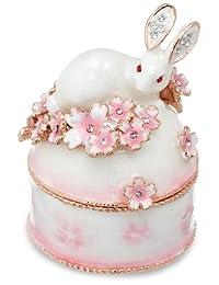 [PIEARTH] PIEARTH 首饰盒 兔子和樱B(白色) EX456-1