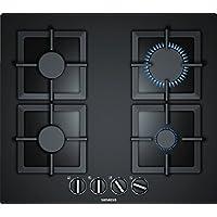 Siemens ep6 a6pb20 内置式 Gas Hob 黑色 炉灶 - 板材(内置,煤气炉,黑色玻璃,铸铁,1000 W)