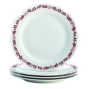 BonJour Dinnerware Yuletide Garland 12 英寸瓷器皿圆盘,印花 Yuletide Garland 54272