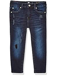 7 For All Mankind 女童 Josefina 弹力牛仔裤