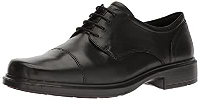 ECCO 男士 Helsinki Cap Toe 牛津鞋 Black, 39 EU/5-5.5 M US