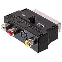 PremiumCord 适配器 SCART-3x RCA + S-Video 带输入/输出开关