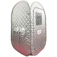 ZONEMEL 便携式蒸汽桑拿,轻便折叠帐篷,个人蒸汽桑拿 SPA 用于***,不含蒸汽机 银色