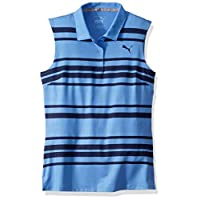 PUMA 2019 高尔夫女童条纹 Polo 衫