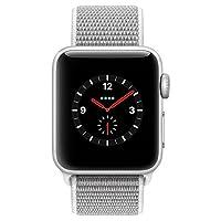 Apple Watch Series 3智能手表 GPS+蜂窝网络版 (38毫米, 银色铝金属表壳 海贝色回环式运动表带 MQQH2CH/A)