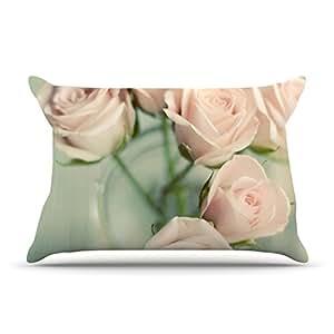 Kess InHouse Cristina Mitchell 粉色浪漫蓝毛绒枕套,76.20 cm x 50.80 cm
