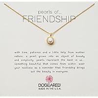 Dogeared 金色表圈珍珠友谊链项链