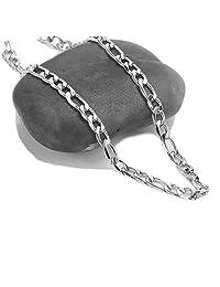 100 80 60 40 20 0 SWAG COLLECTION LOS ANGELES STAY ON TOP 白色金链项链 适合男士/女士/儿童 5MM 18Kt 钻石切割白金费加罗链 40.64-76.2 cm 美国制造!