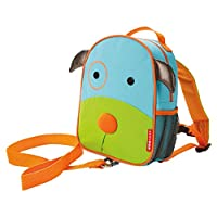 Skip Hop Zoo Little Kid and Toddler Safety Harness Backpack, Ages 2+, Multi Darby Dog